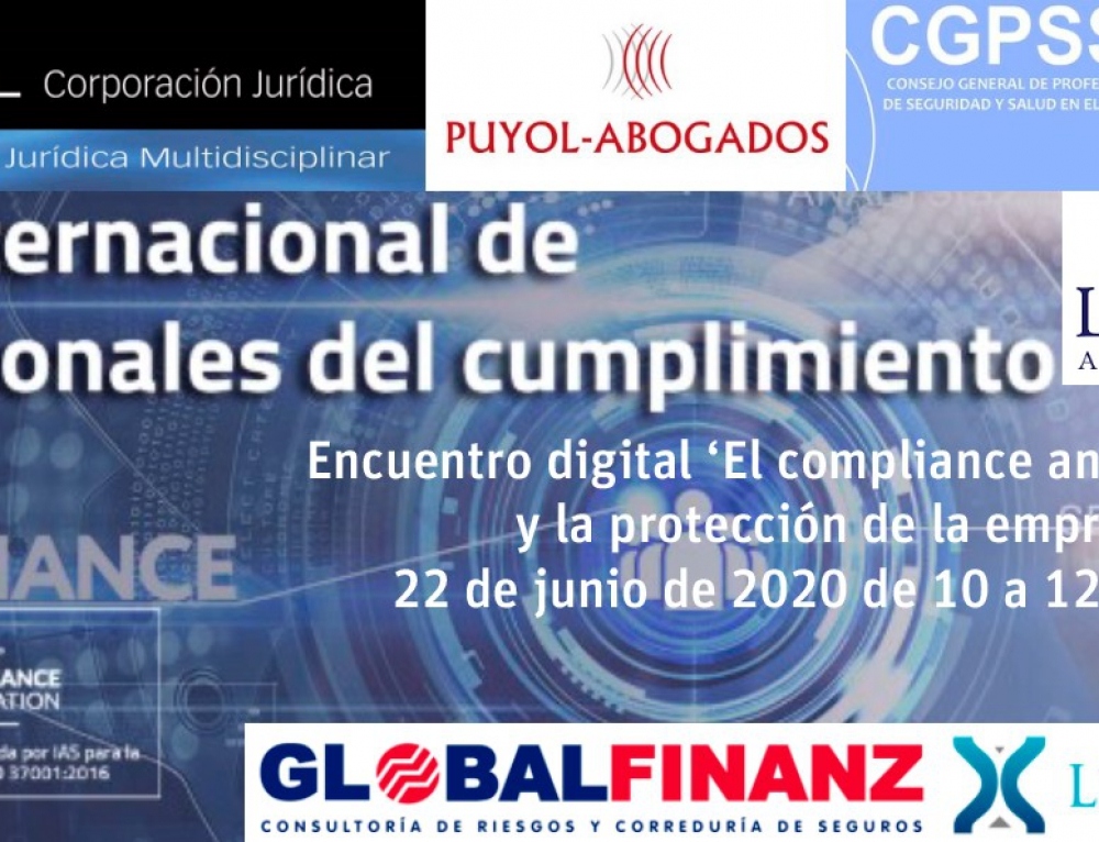 La World Compliance Association organiza el encuentro digital 'El compliance anticoronavirus y la protección de la empresa'