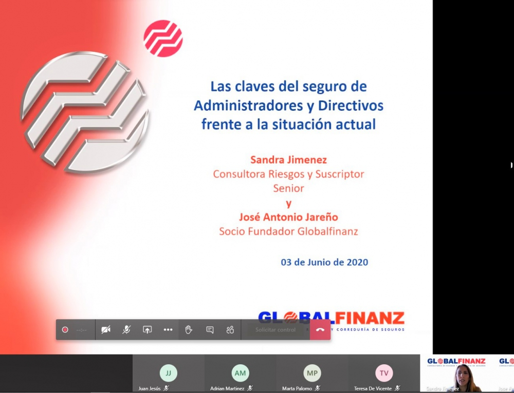 Encuentro online sobre 'Las claves del seguro de Administradores y Directivos frente a la situación actual'