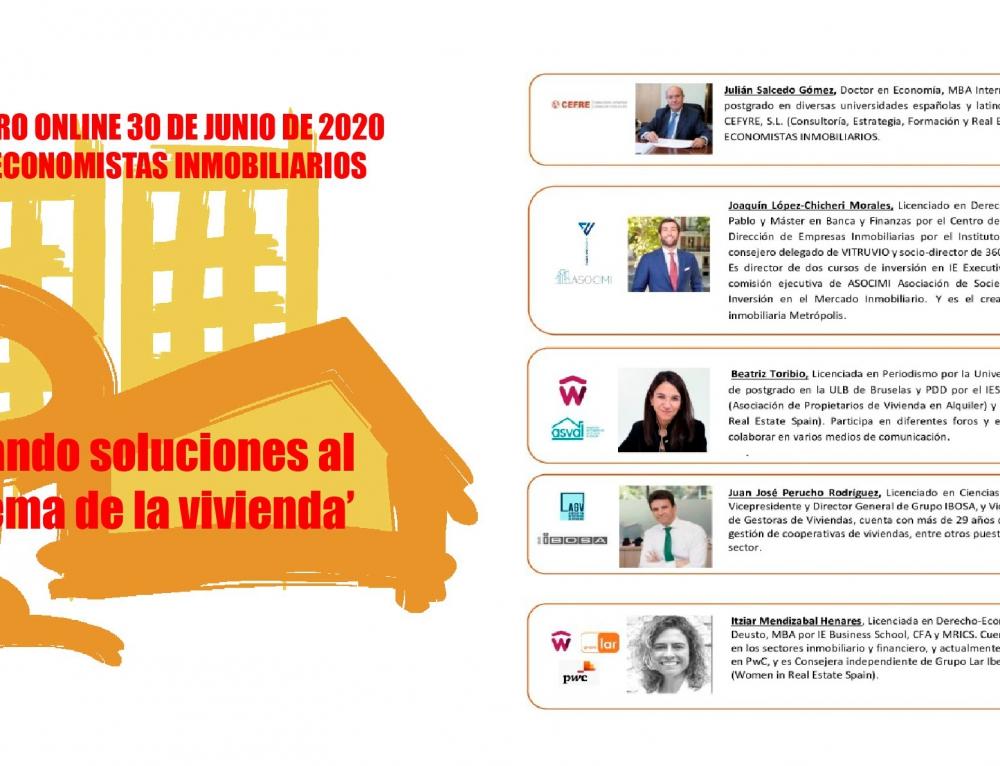 El Foro de Economistas Inmobiliarios propone sus soluciones al problema de la vivienda en un vibrante encuentro online