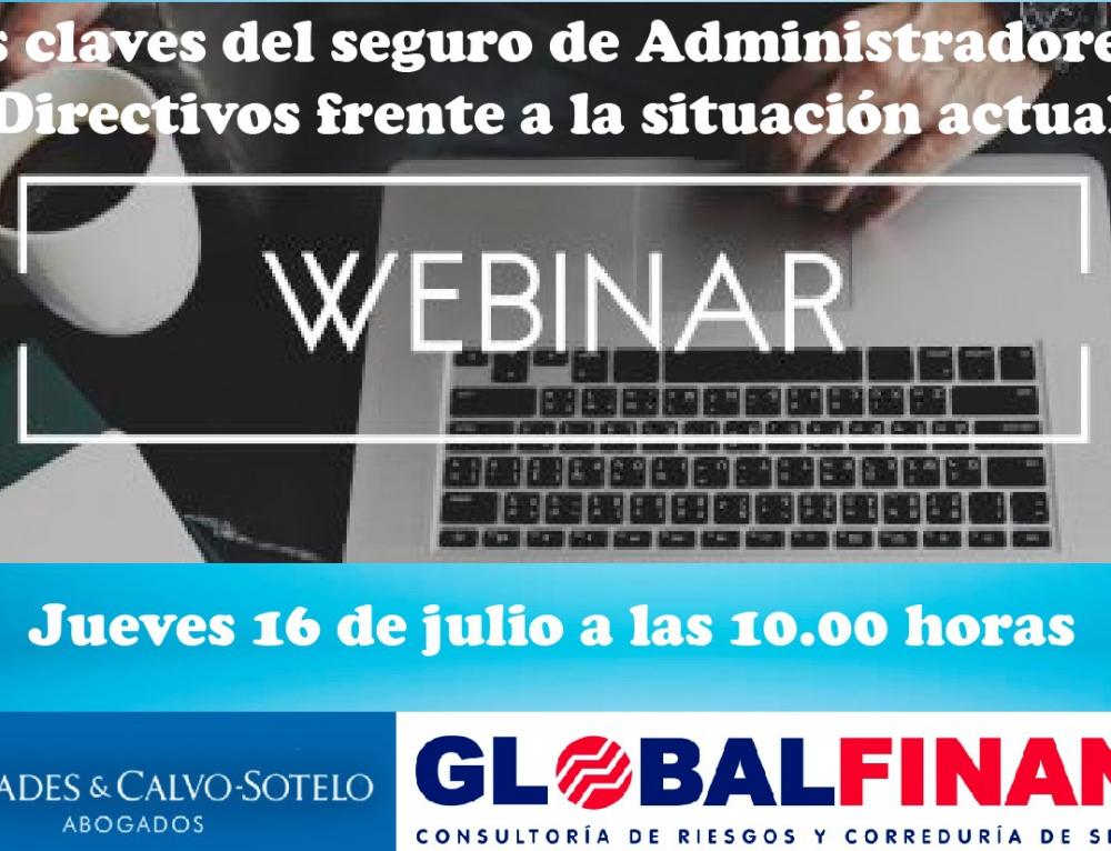 Cremades & Calvo-Sotelo Sevilla y GLOBALFINANZ organizan un encuentro digital para abordar las claves del seguro de Administradores y Directivos frente a la situación actual