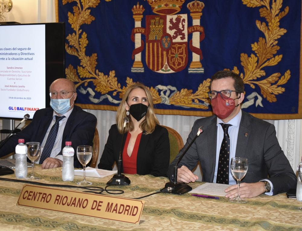 Las Claves del seguro de administradores y directivos frente a la situación actual son analizadas en el Centro Riojano de Madrid